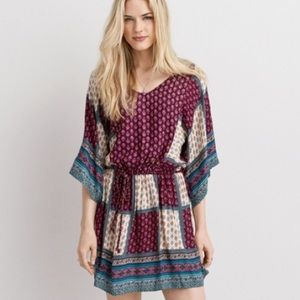 American Eagle Boho Patchwork Dress
